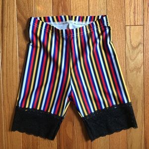 American Apparel Barcelona Striped Bike Shorts